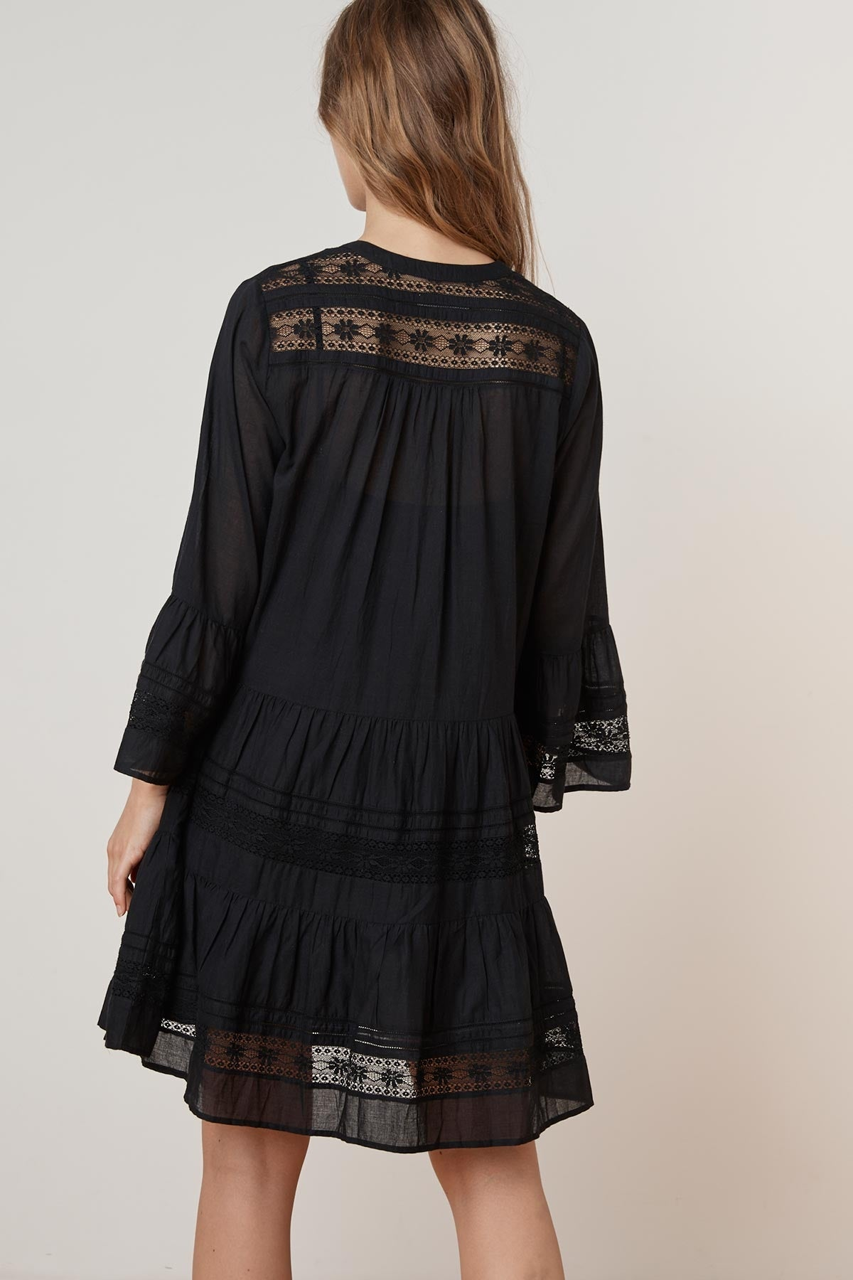 NURIA COTTON LACE  BELL SLEEVE DRESS