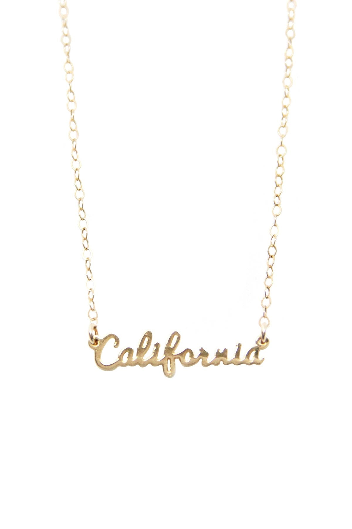 CALIFORNIA SCRIPT NECKLACE by SEOUL LITTLE