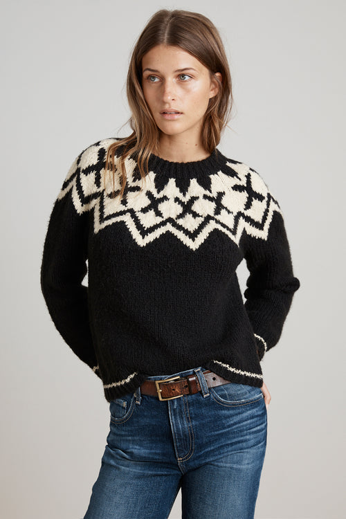 ROBYN FAIR ISLE CREW NECK SWEATER