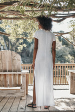 ZIGGY COTTON SLUB MAXI DRESS