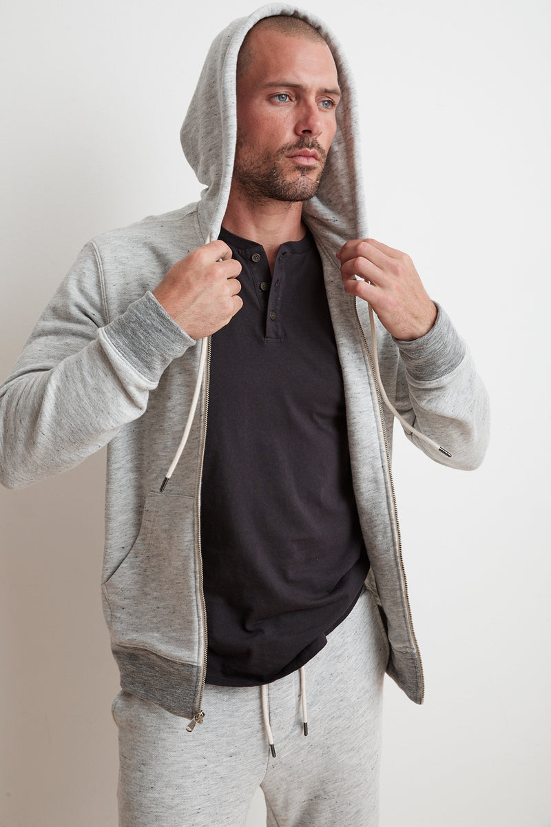 THOMAS FRENCH TERRY ZIP UP HOODIE