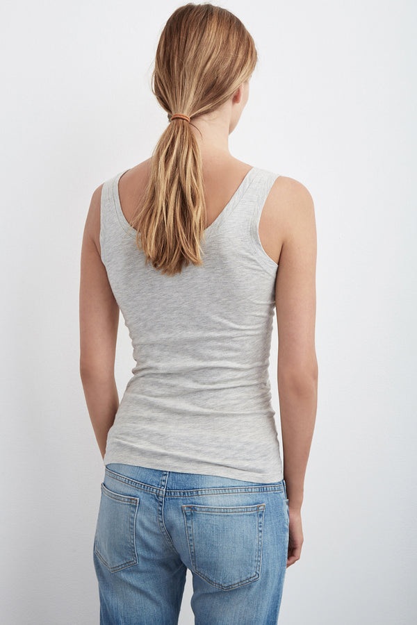MOSSY LIGHT HEATHER GAUZY WHISPER FITTED TANK