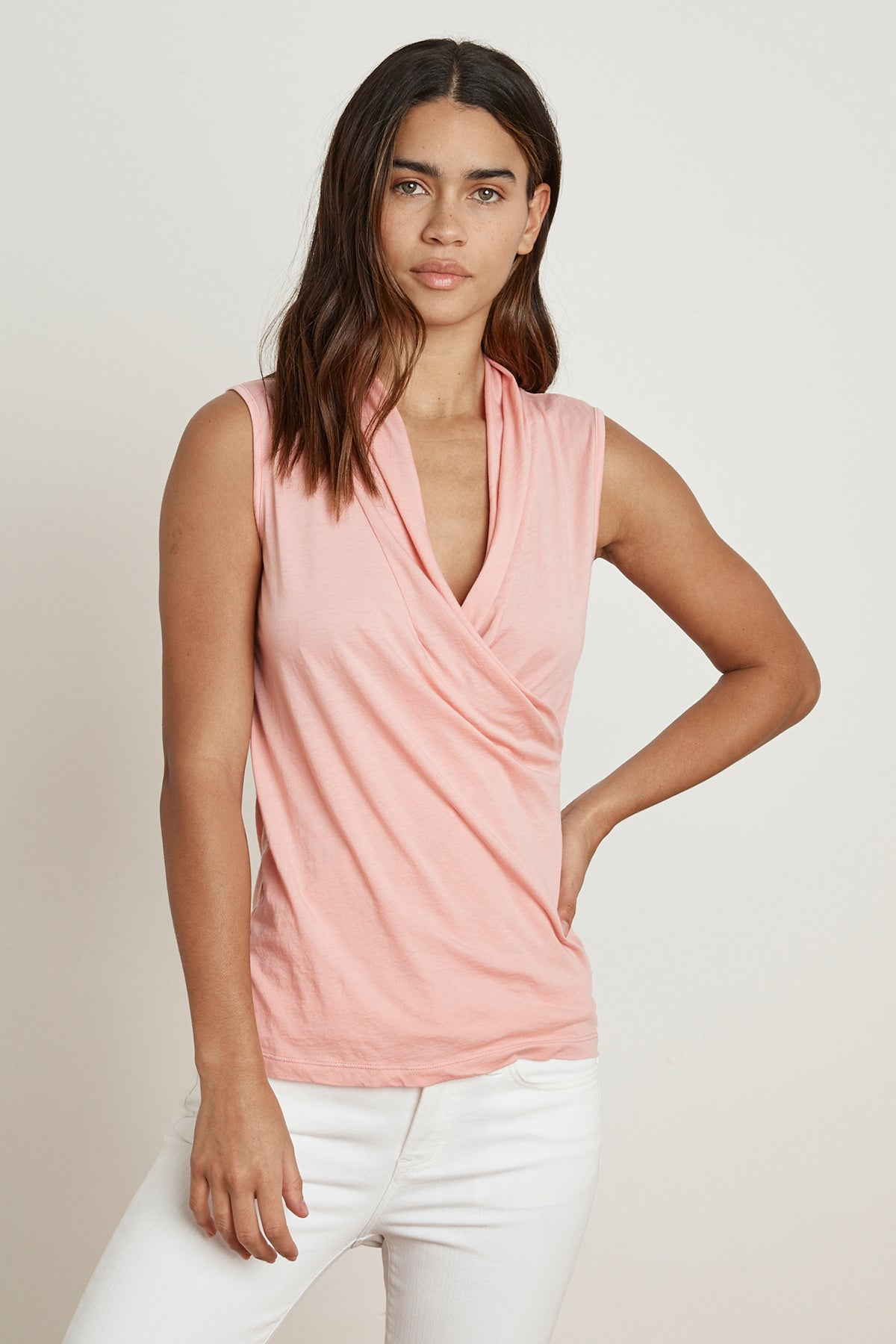 ADELISE GAUZY WHISPER FITTED WRAP TANK