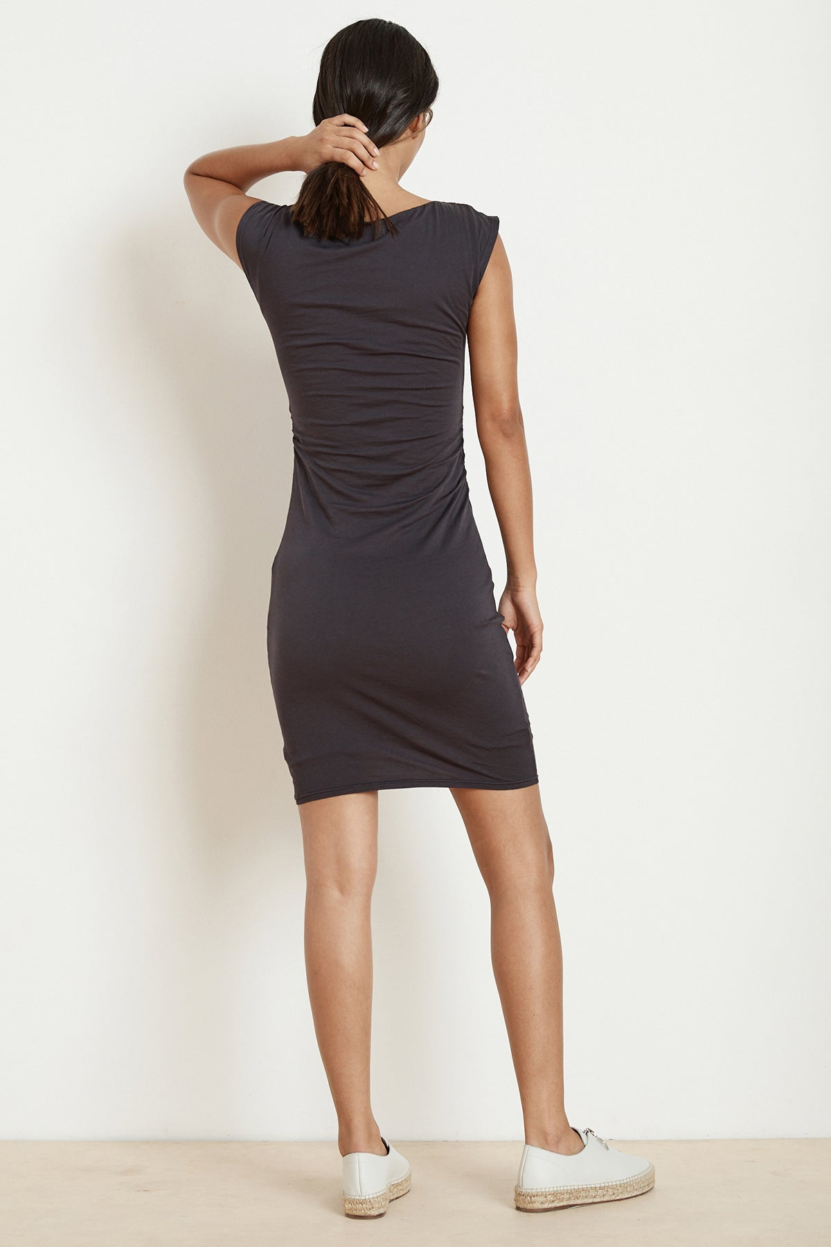 DINAH FITTED GAUZY WHISPER CAP SLEEVE DRESS