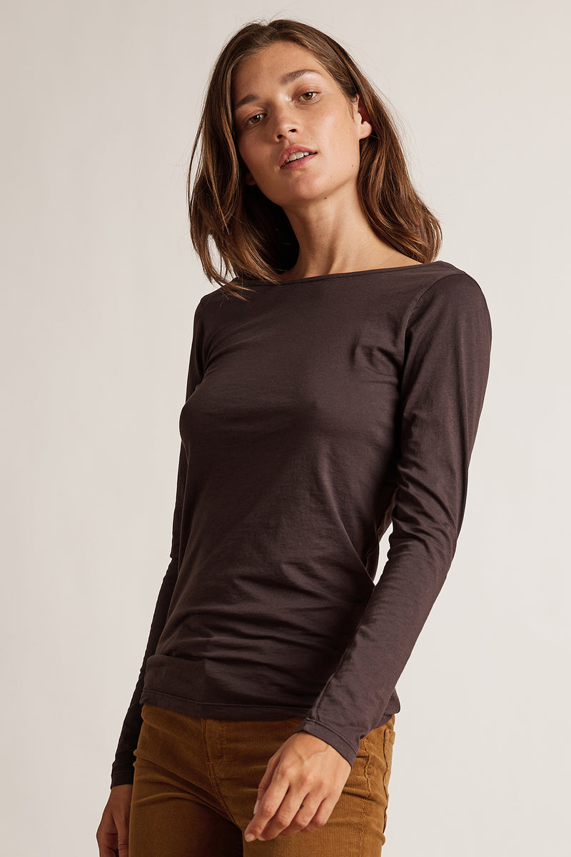 MANDIE GAUZY WHISPER LOW BACK TEE