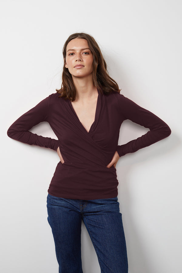 MERI WRAP FRONT FITTED TOP
