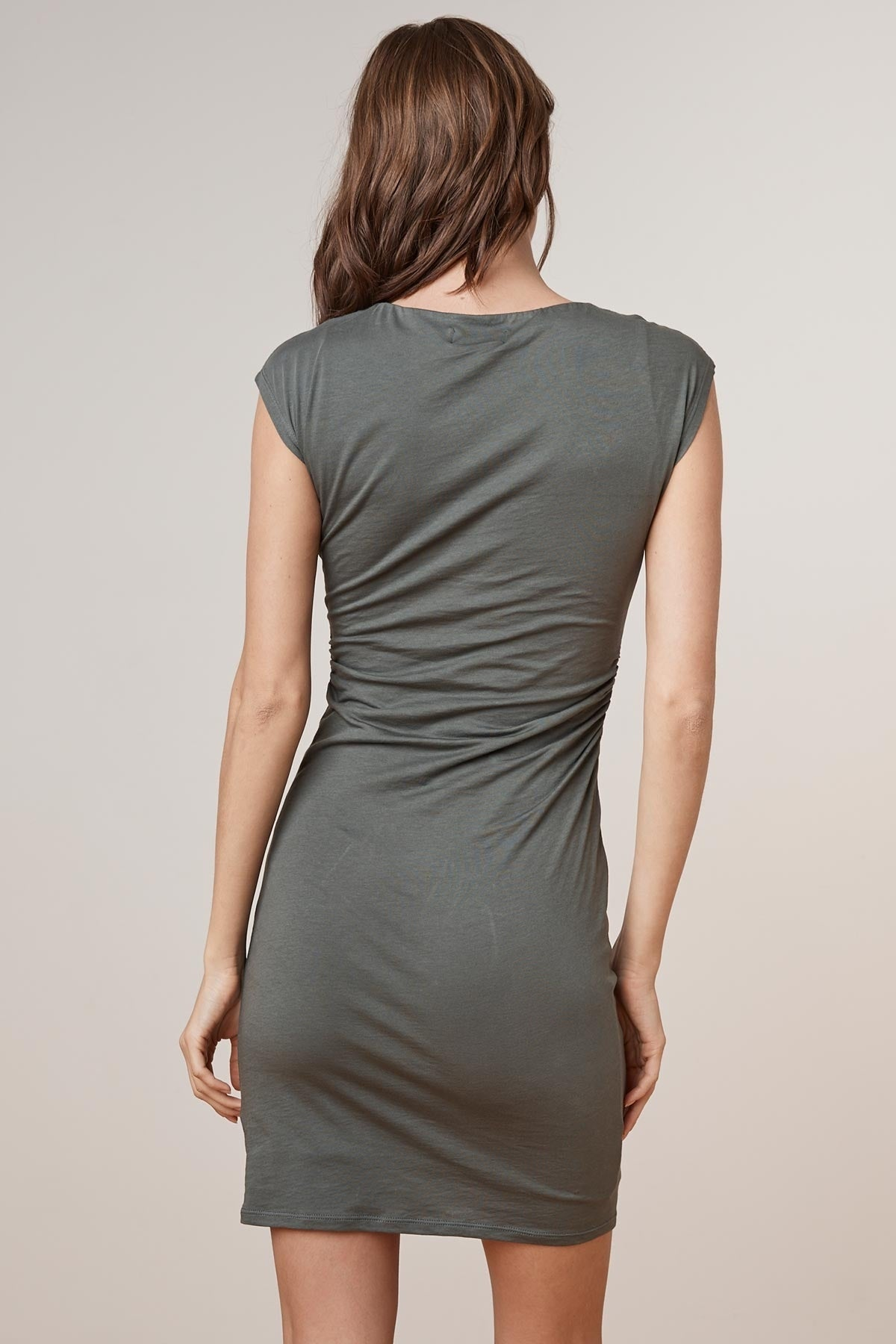 VITTORIA GAUZY WHISPER CREW NECK DRESS