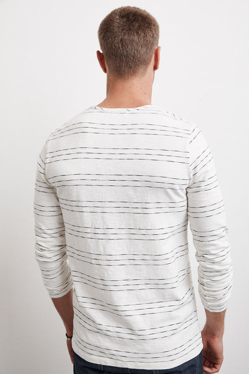LANG HACCI STRIPE LONG SLEEVE TEE