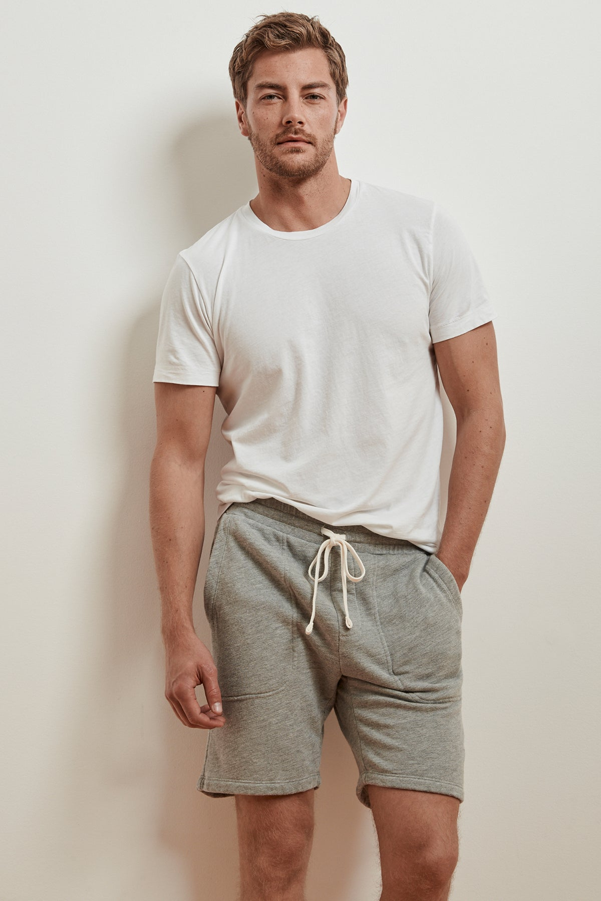 HAWKING HEATHER GREY FRENCH TERRY SHORT