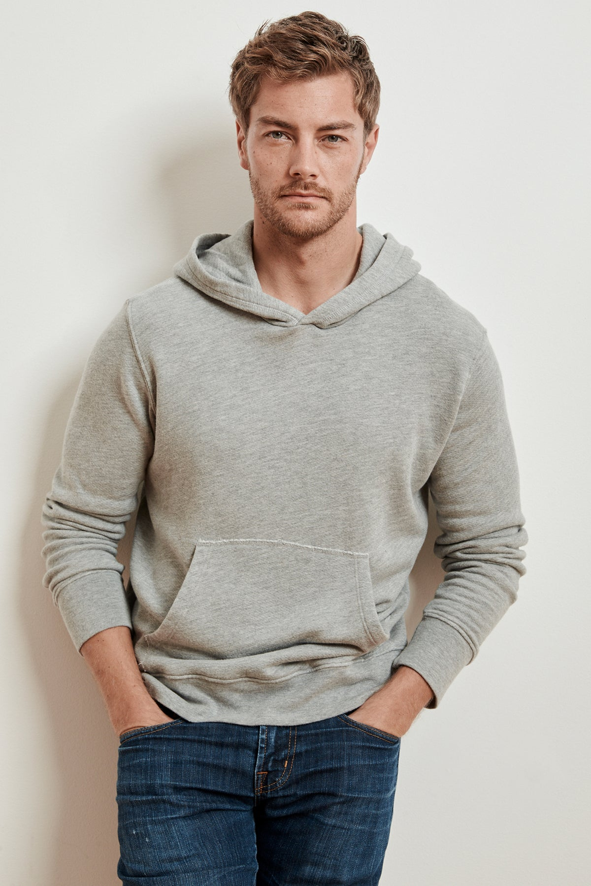 SPADER HEATHER GREY FLEECE HOODIE
