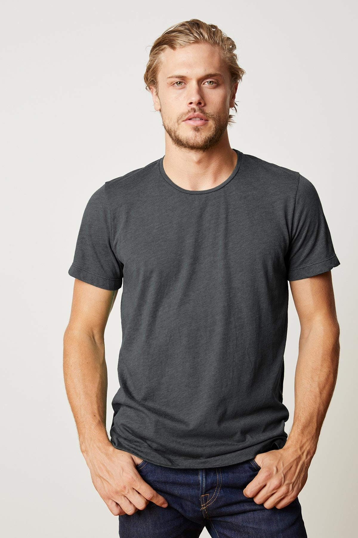 ZEALAND HEATHER JERSEY SHORT SLEEVE TEE