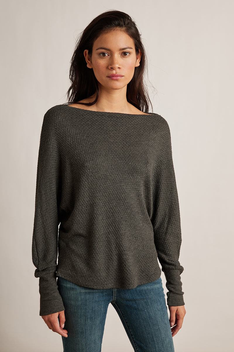 NYLA HONEYCOMB KNIT DOLMAN TOP