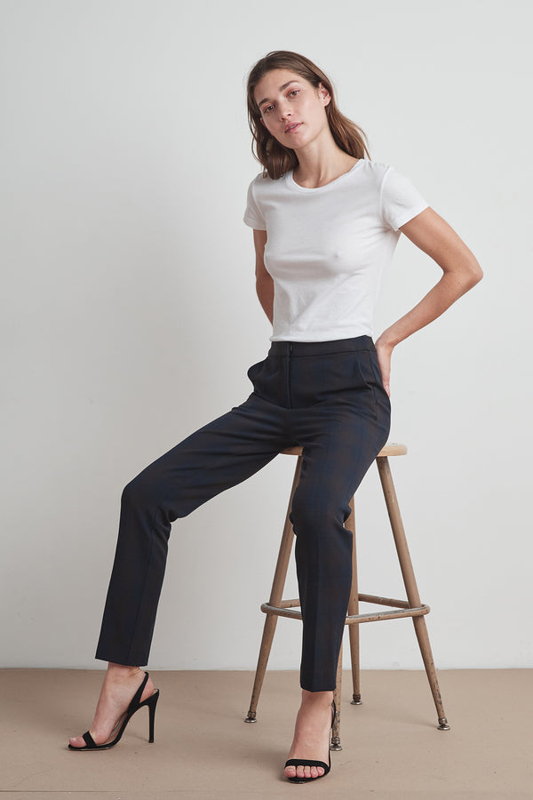 CASSANDRA STRETCH PLAID PANT