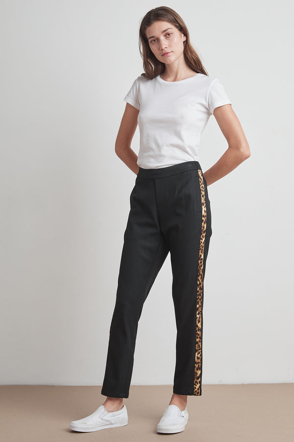 RUTHIE CHEETAH SIDE STRIPE TWILL PANT