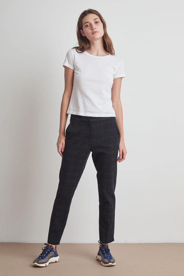 SABRINA SOFT STRETCH PLAID PANT