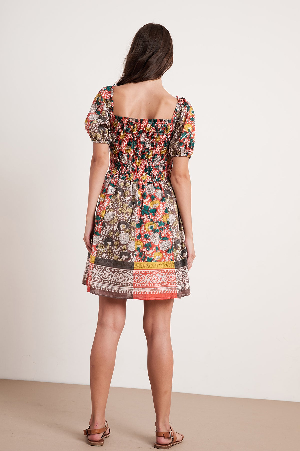 TARIA PRINTED SMOCKED DRESS