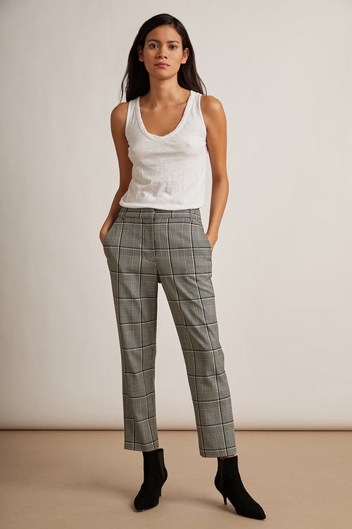 ABIGAIL PLAID STRAIGHT LEG PANT