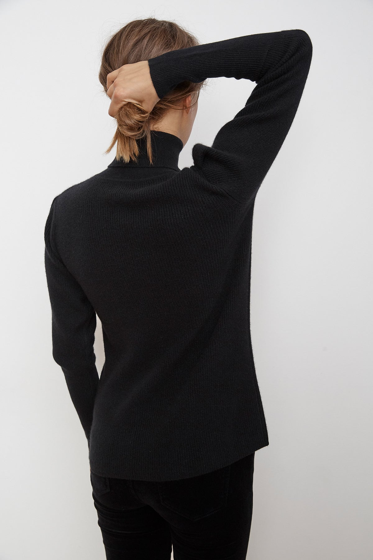 BABETTE PUFF SLEEVE CASHMERE TURTLENECK SWEATER