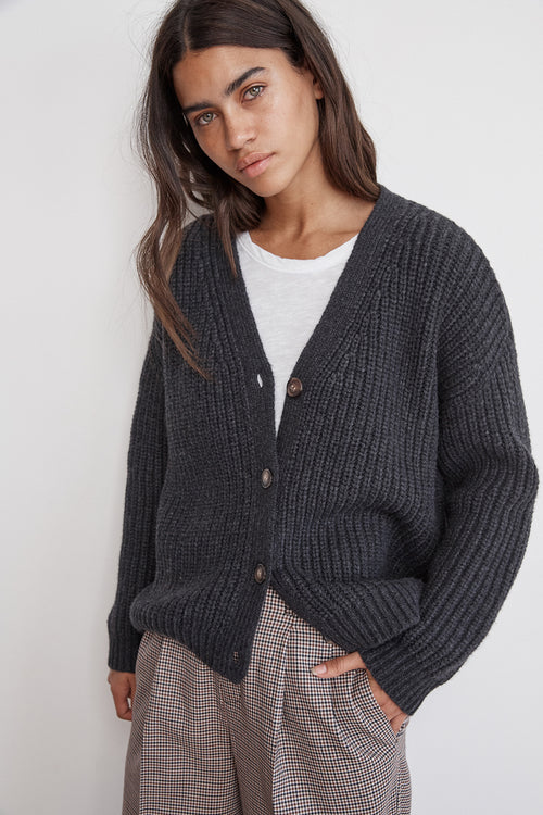 ABBOTT CHUNKY KNIT BUTTON-UP CARDIGAN