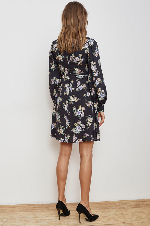 WINOLA FLORAL PRINTED CHALLIS DRESS