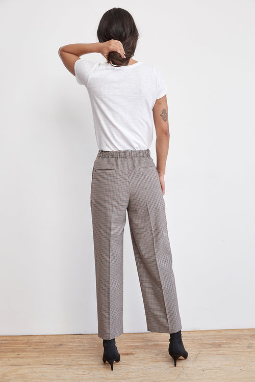 BENNI HIGH-WAIST PLAID PANT