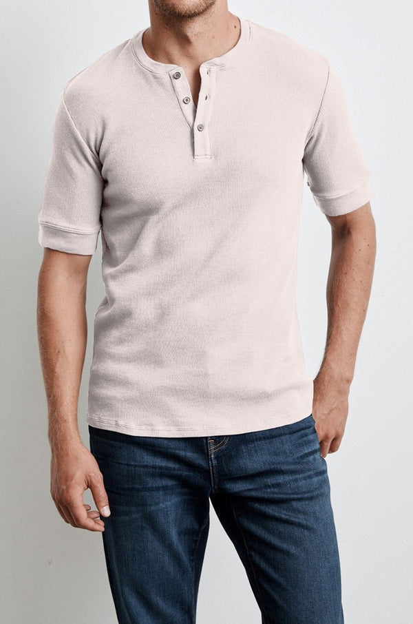 LARRY THERMAL KNIT HENLEY