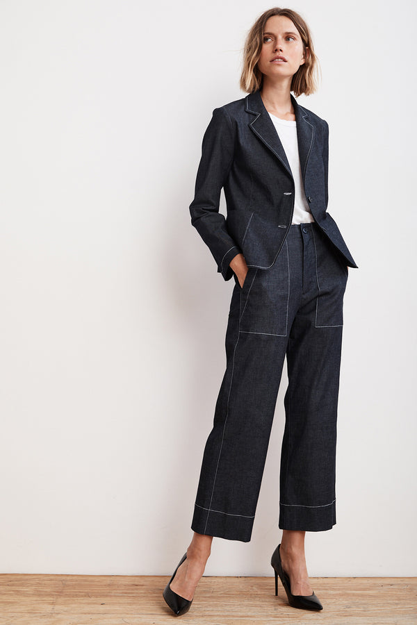 LANDA LIGHTWEIGHT DENIM WIDE LEG PANT