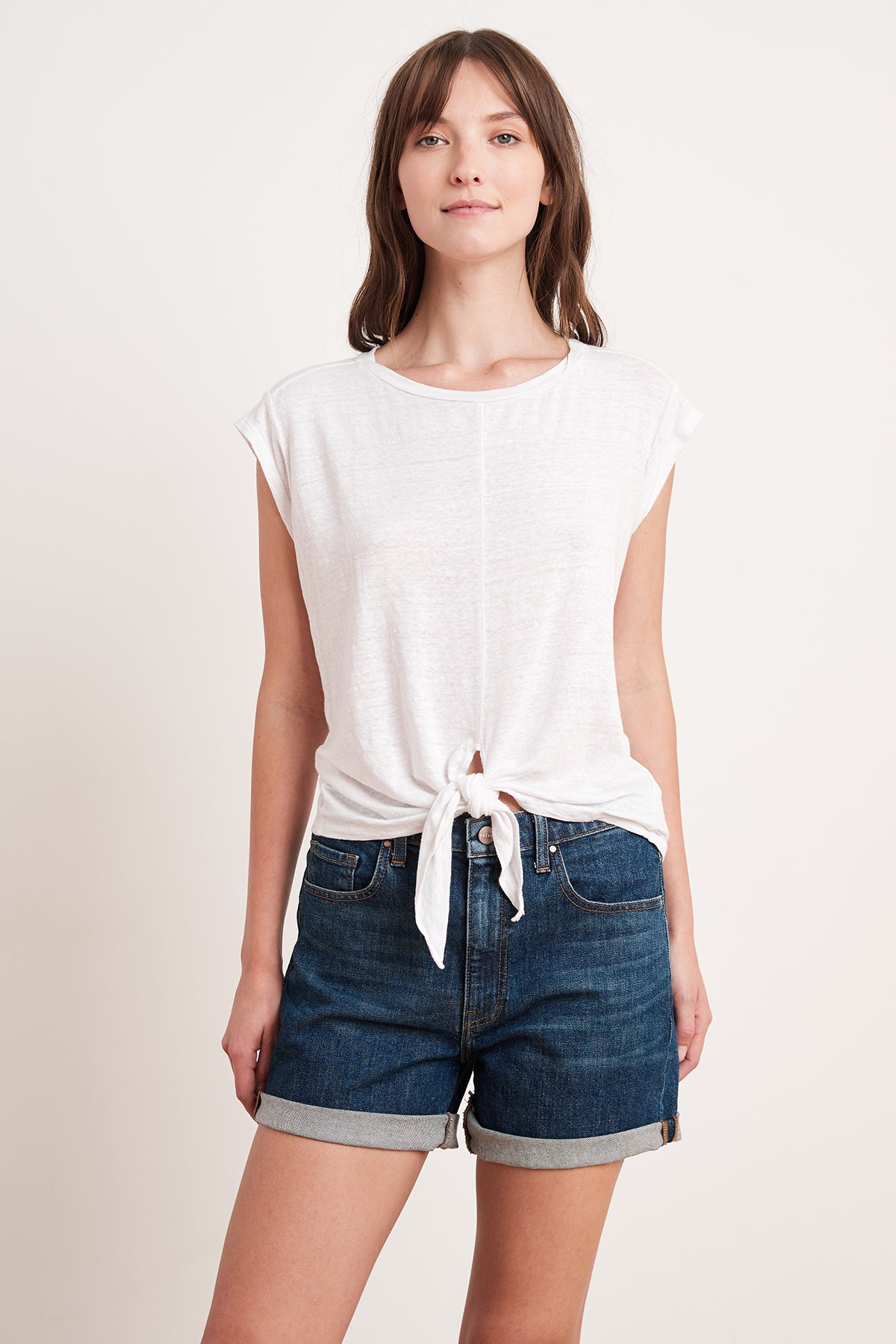 ABBA KNOT FRONT TEE