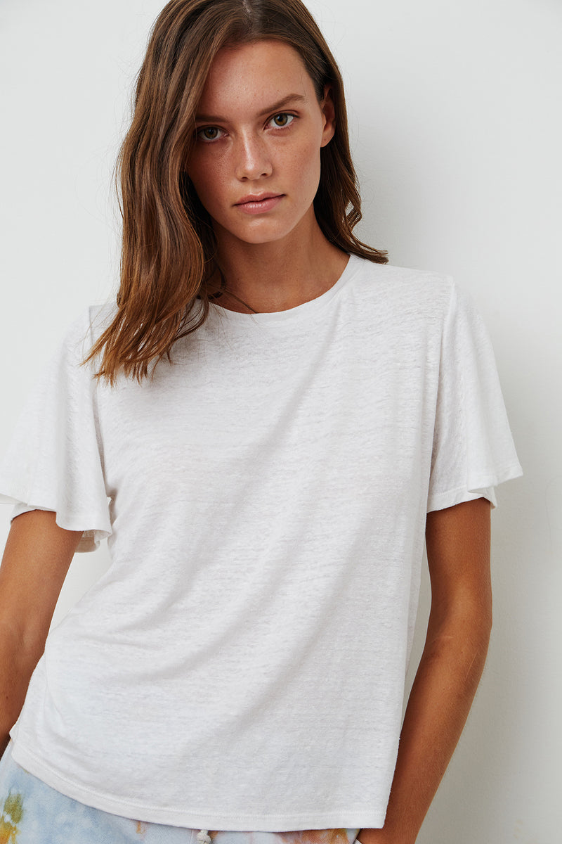 Annalise Tee White Front 2