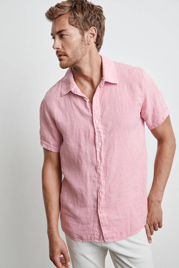 MACKIE LINEN BUTTON-UP SHIRT