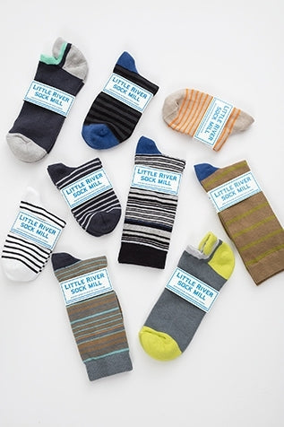CUSHIONED NO SHOW SOCK BY LITTLE RIVER SOCK MILL