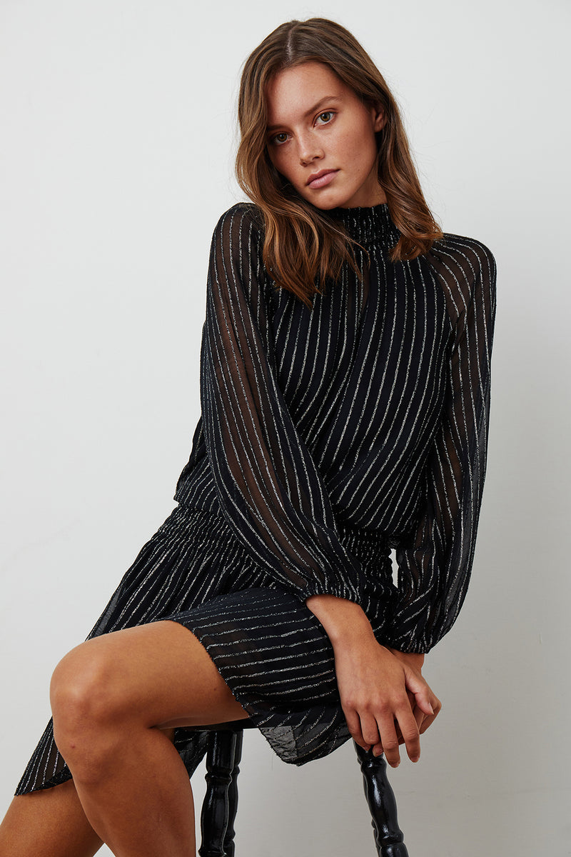 ANETTA MOCK NECK DRESS