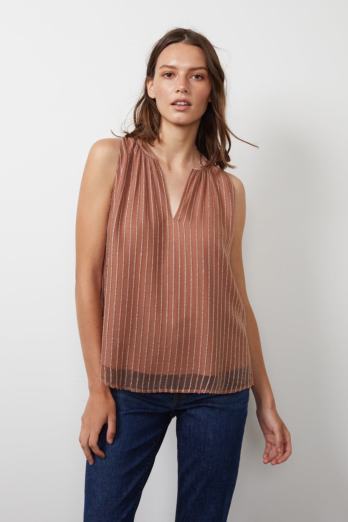 Pollie Top Blush Front