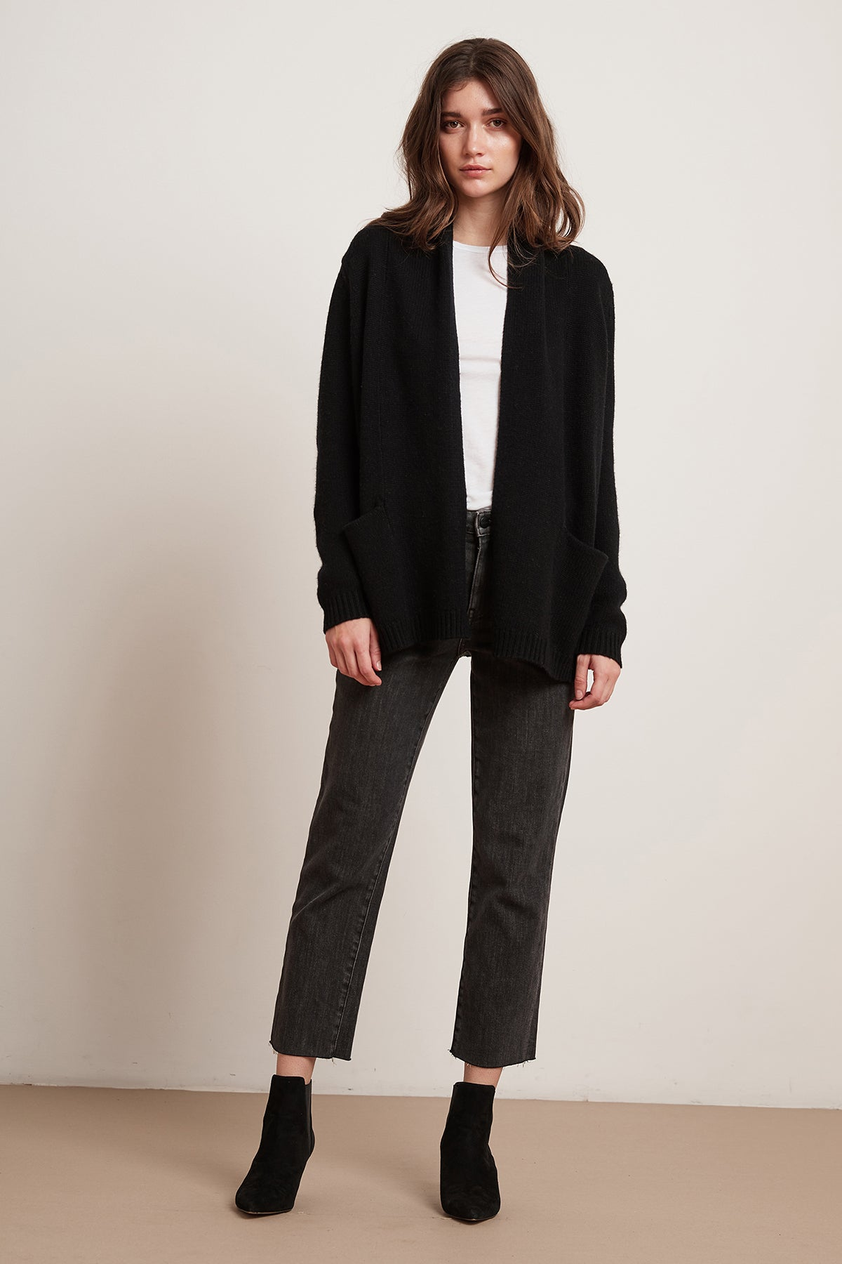 BRANDY LUX CASHMERE BLEND OPEN CARDIGAN