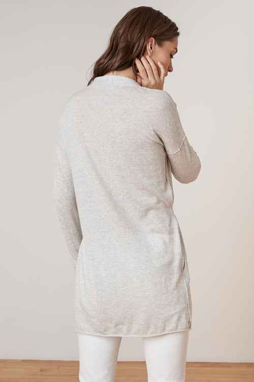 ELZA LUX COTTON WRAP CARDIGAN