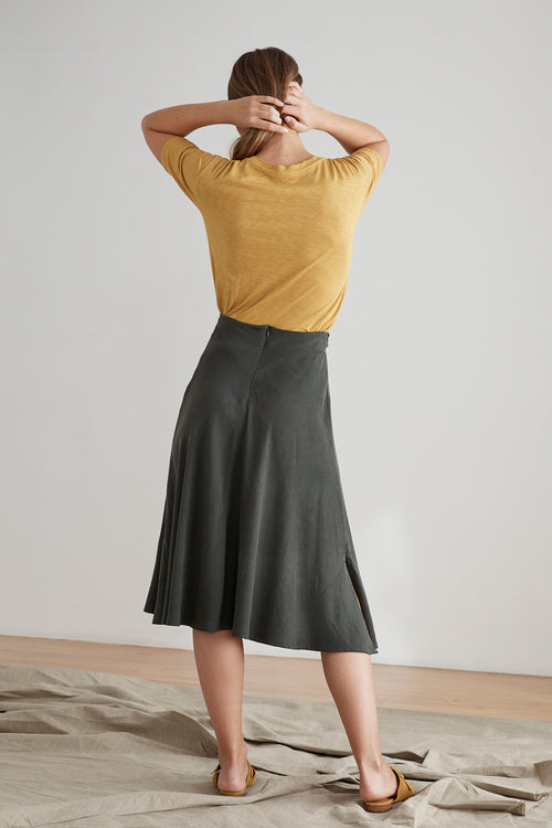 BABITA BELTED TENCEL SKIRT