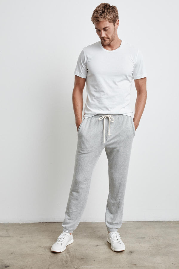 JUDAS HEATHER GREY LUXE FLEECE SWEATPANT