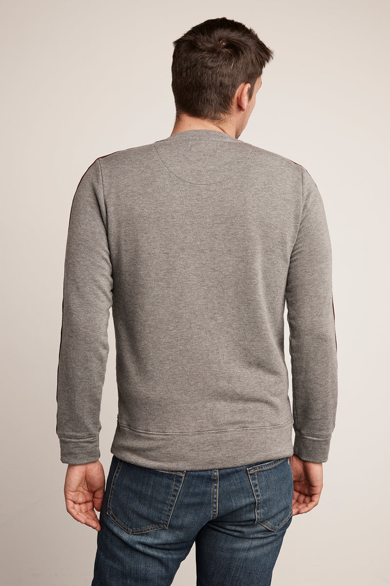 LEAR LUXE FLEECE STRIPE PULLOVER