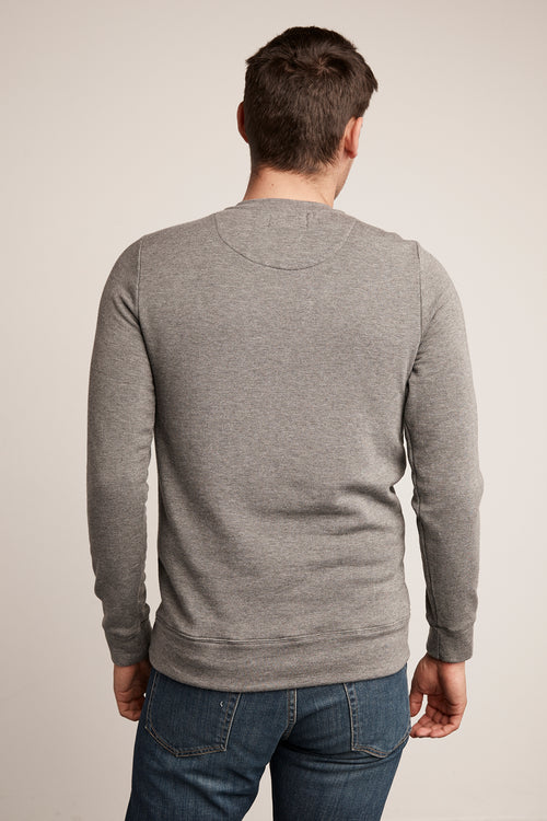 SOREN CHARCOAL LUXE FLEECE PULLOVER