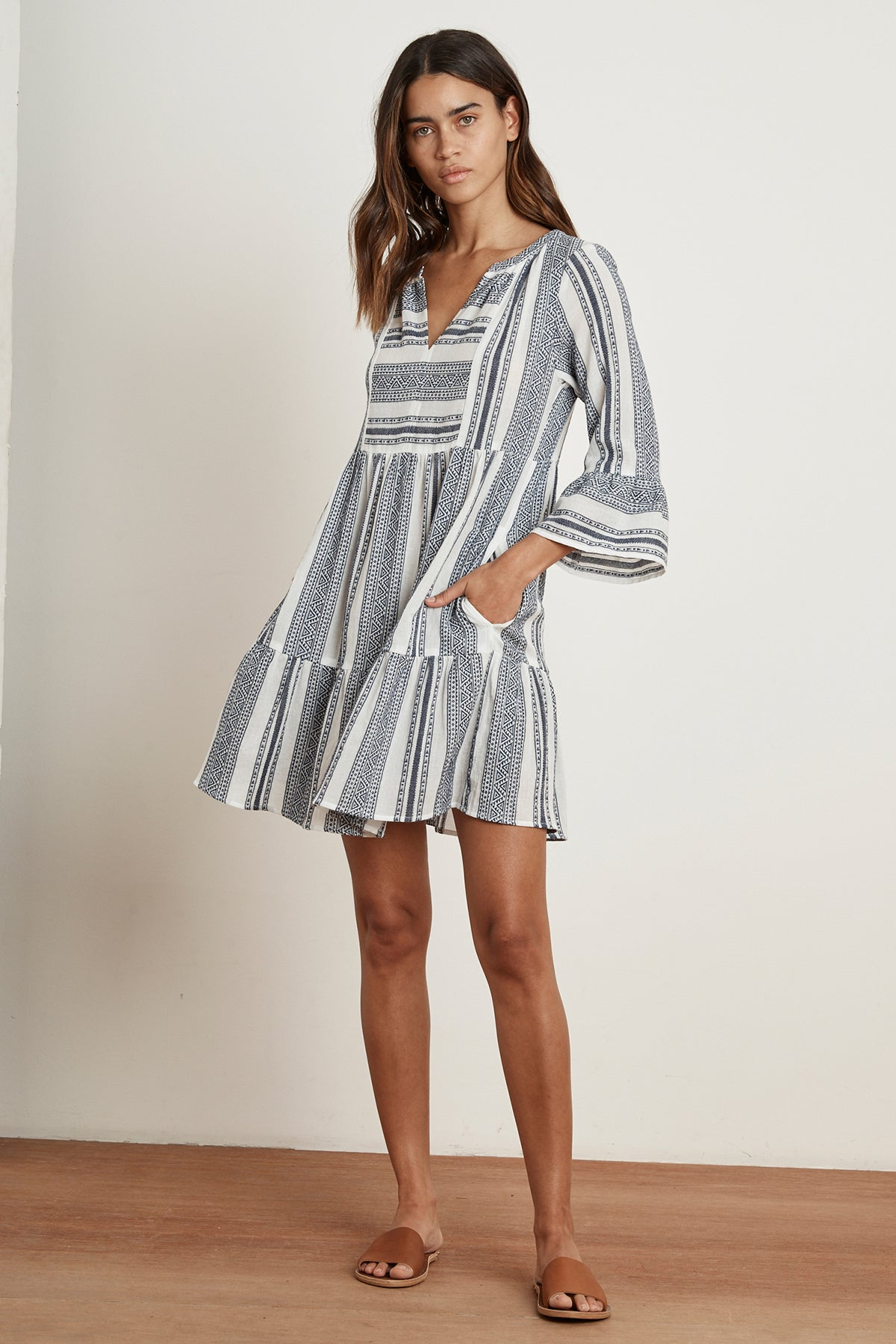 CAMBRIA MALAGA JACQUARD PEASANT DRESS