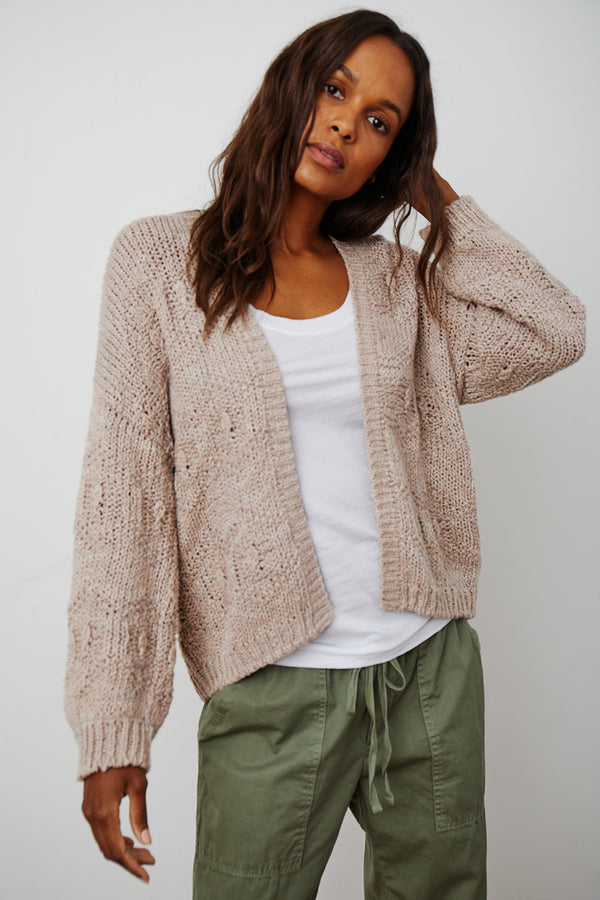 NEZA COTTON OPEN CARDIGAN