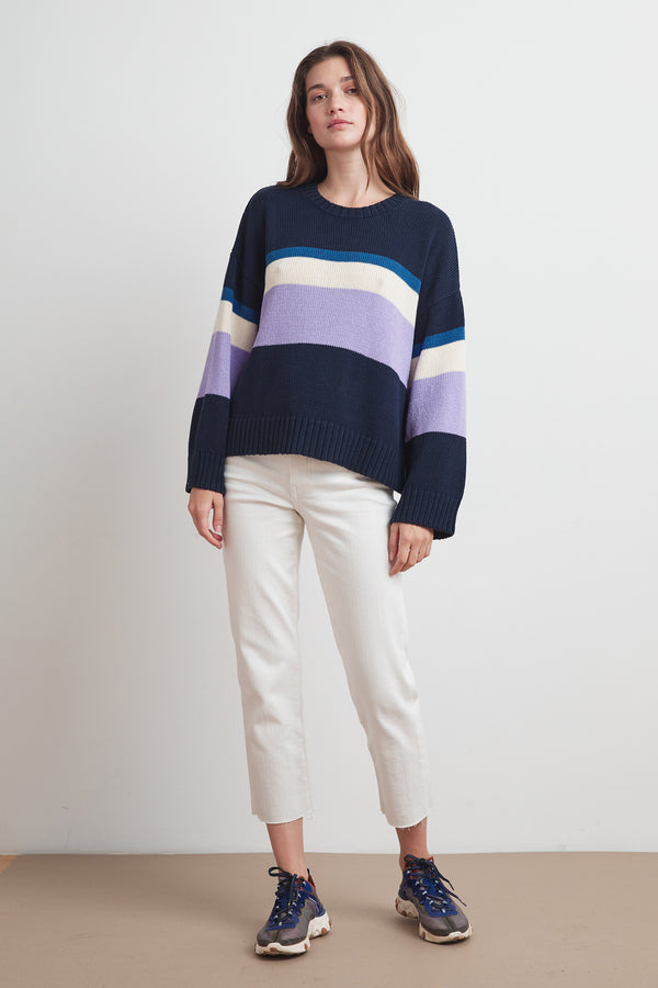 MADELINE COTTON STRIPE SWEATER
