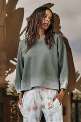 Olivette Sweatshirt Willow Front