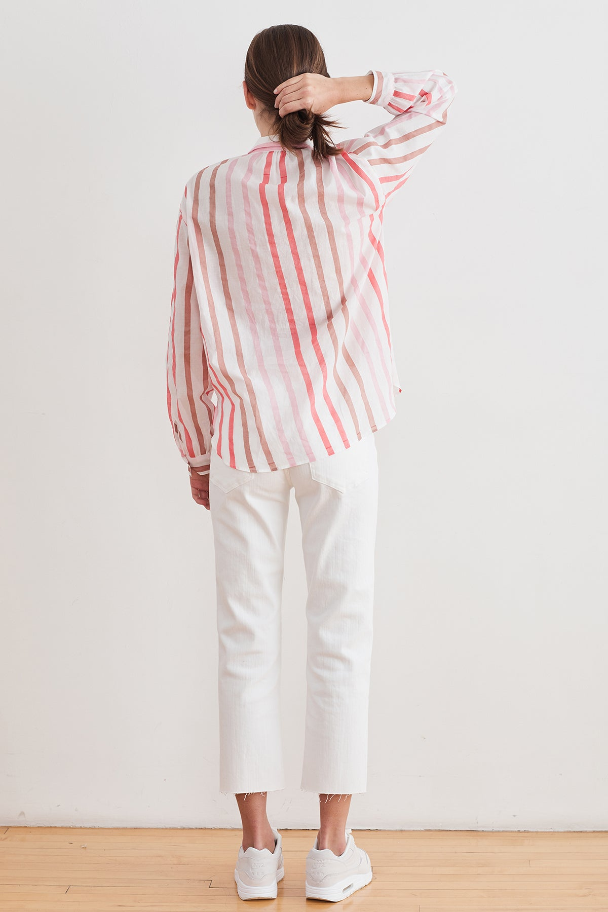 TALIA OMBRE STRIPE BUTTON-UP SHIRT