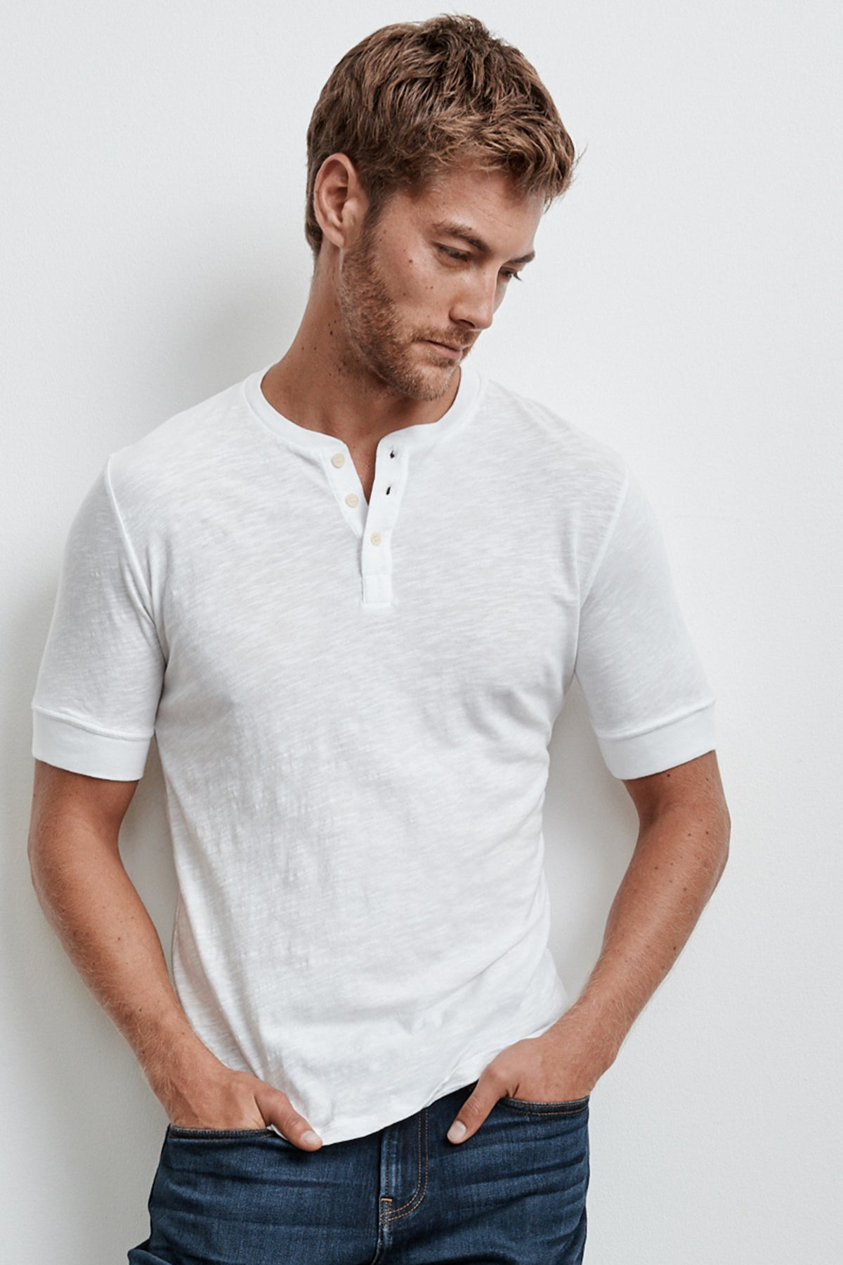 BANKS ORIGINAL SLUB SHORT SLEEVE HENLEY