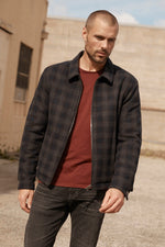 ALDWIN PLAID ZIP UP JACKET