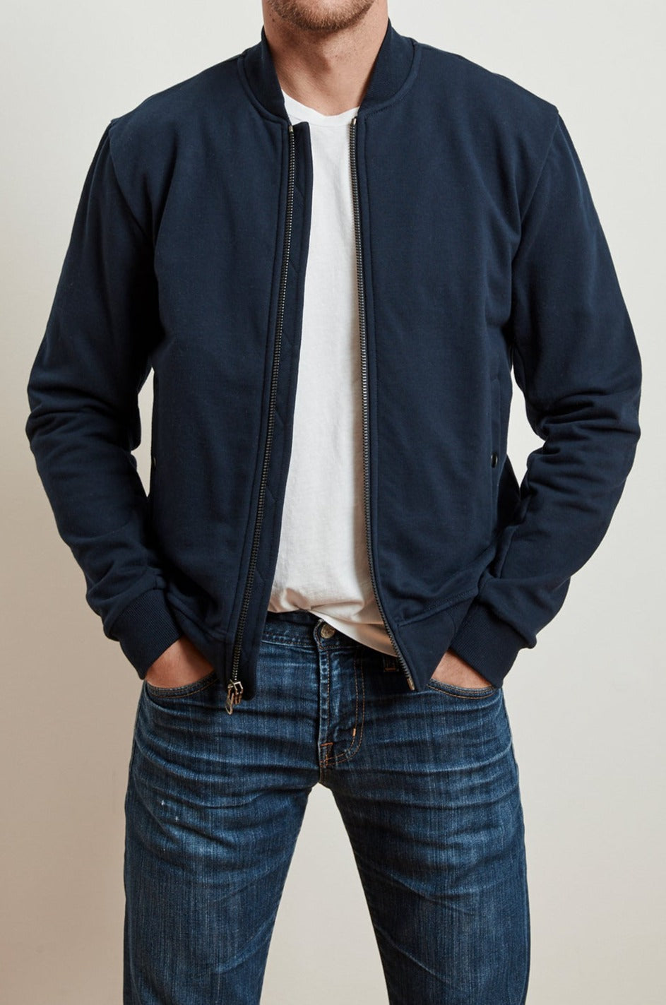 LIONEL FRENCH TERRY BOMBER JACKET