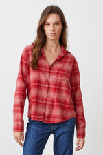 RUZ PLAID BUTTON-UP SHIRT