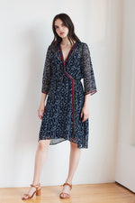 INGRID PLAYA PRINT WRAP DRESS