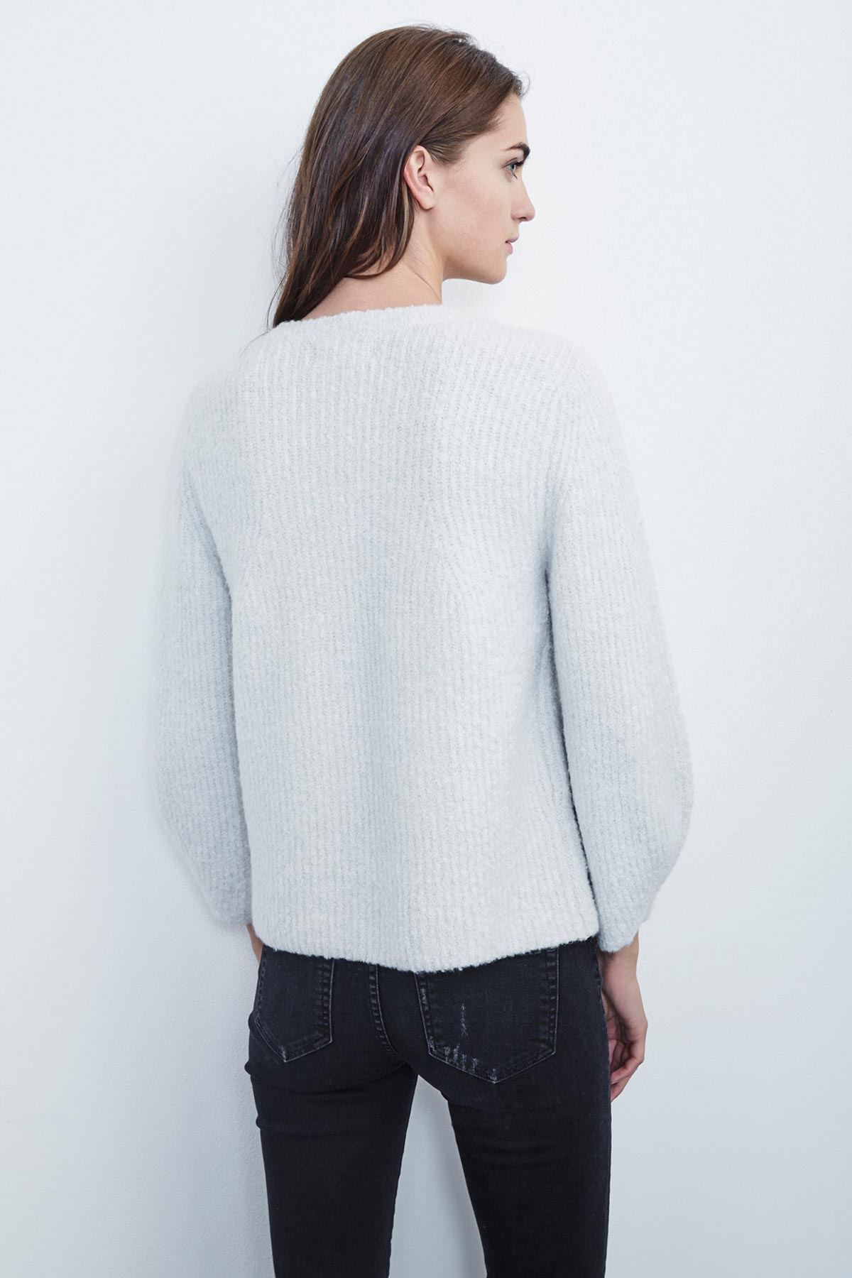 JERRI PLUSH BOUCLE CREW NECK SWEATER
